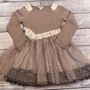 Eliane Et Lena brown tulle dress